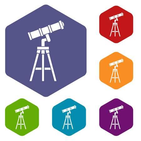 ocular: Telescope icons set Illustration