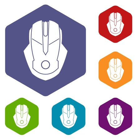 Computer mouse icons set