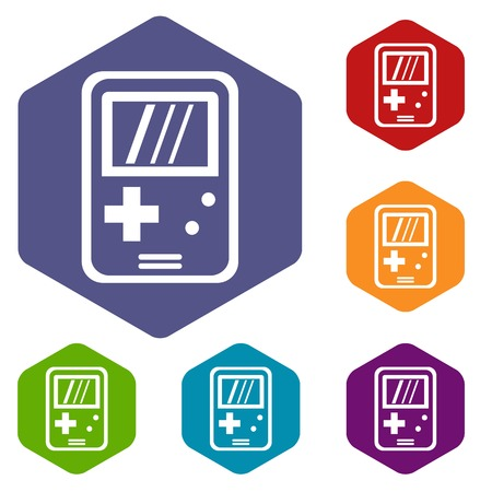 tetris: Tetris icons set Illustration