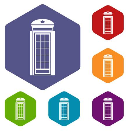determinant: Phone booth icons set