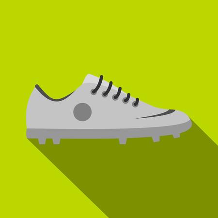 Grey soccer shoe icon, flat style Illustration