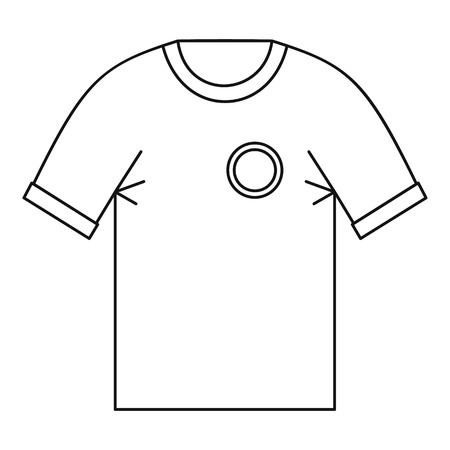 menswear: T shirt uniform team icon, outline style Illustration