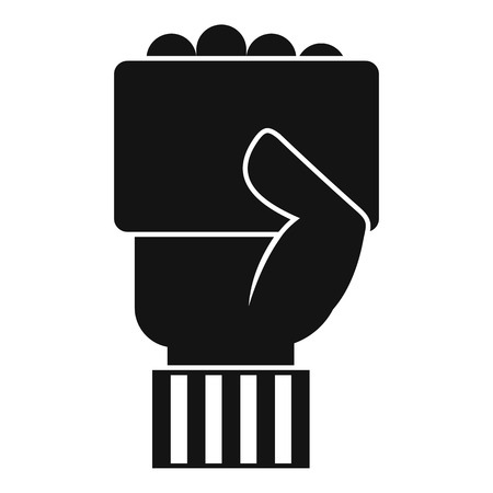 Hand of soccer referee showing card icon Illustration
