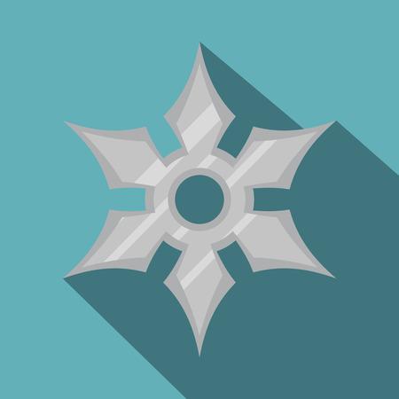 shuriken: Shuriken weapon icon, flat style Illustration