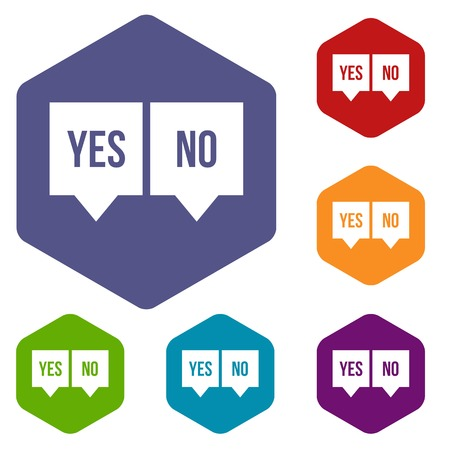 yes no: Signs of yes and no icons set