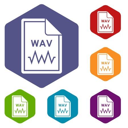 wav: File WAV icons set