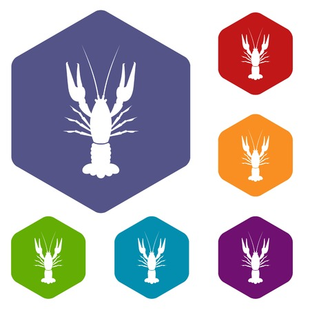 Lobster icons set