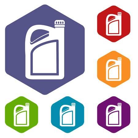 petrochemistry: Jerrycan icons set Illustration