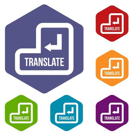 Traduire les icônes définies Vecteurs