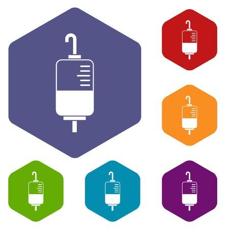 transfuse: Blood donation icons set