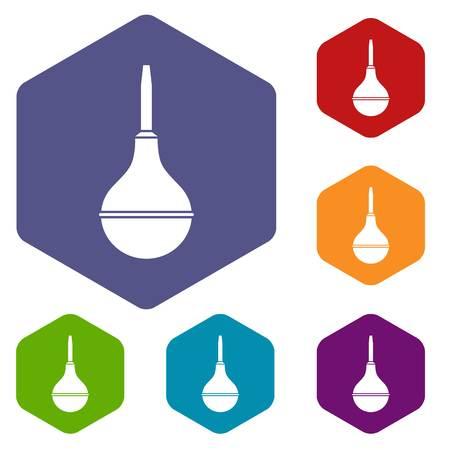 enema: Medical pear icons set