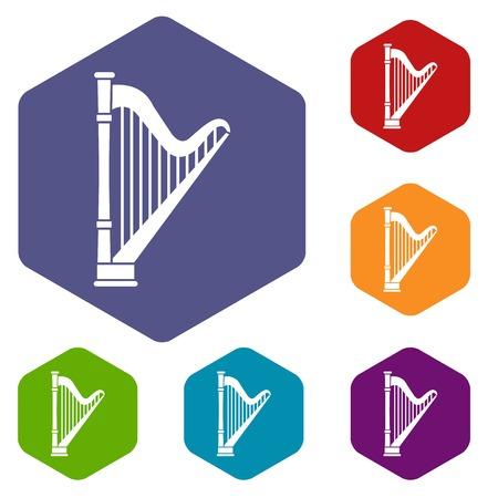 melodic: Harp icons set