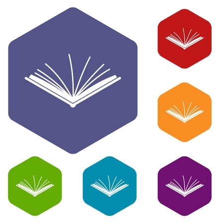 Open tutorial icons set Illustration