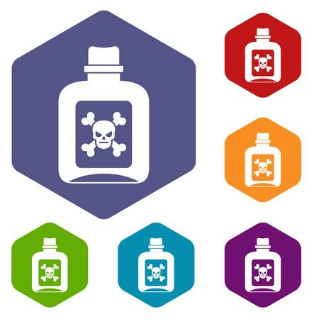 poison: Poison icons set Illustration