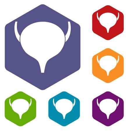 urogenital: Bladder icons set Illustration