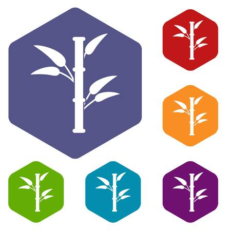 lucky bamboo: Bamboo icons set