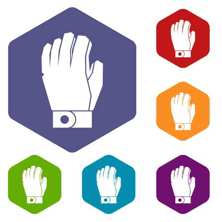 padding: Hockey glove icons set Illustration