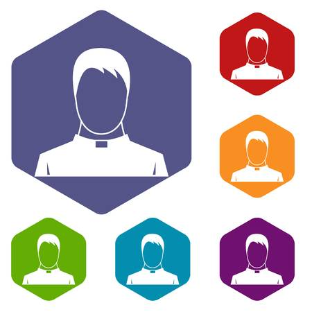 preacher: Priest icons set