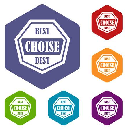 choise: Best choise label icons set Illustration