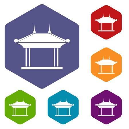 Pagoda pictogrammen instellen
