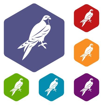 Falcon icons set