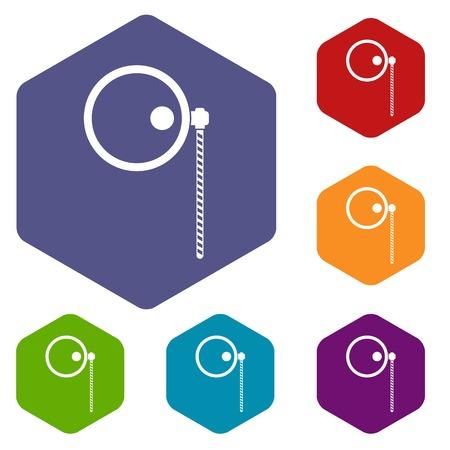 monocle: Monocle icons set Illustration