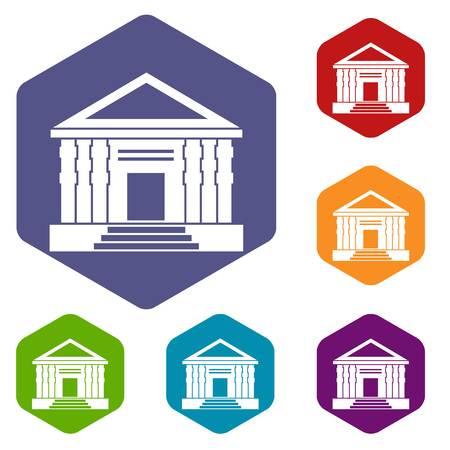doric: Colonnade icons set
