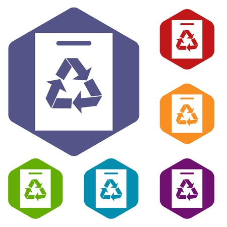 recycling: Recycling icons set Illustration