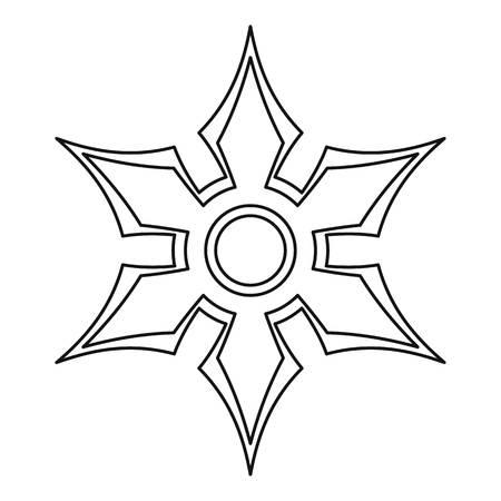 Shuriken icon, outline style