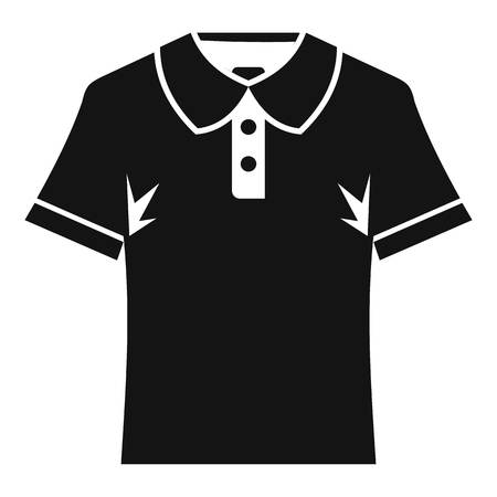 Men polo shirt icon, simple style Illustration