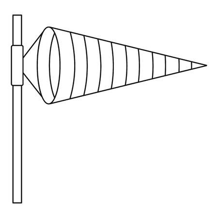 windsock: Windsock, icon, outline style