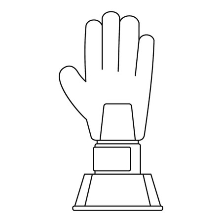 Baseball award icon, outline style