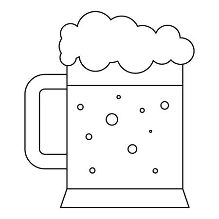 draught: Beer icon , outline style