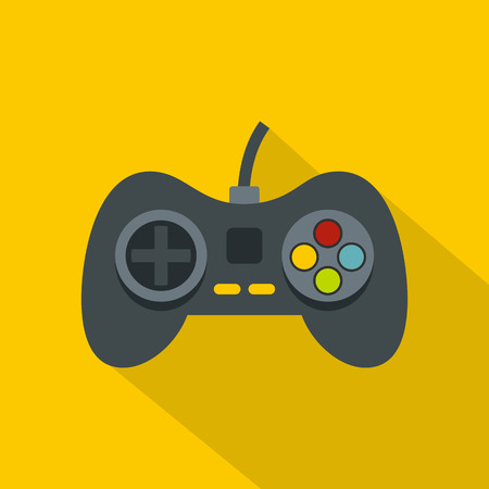 Video game controller icon, flat style Illustration