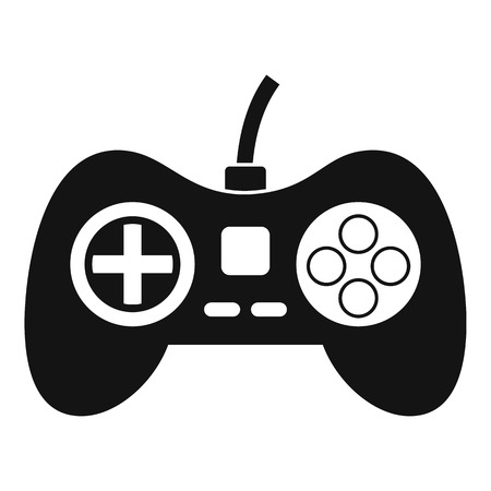 Video game console controller icon, simple style