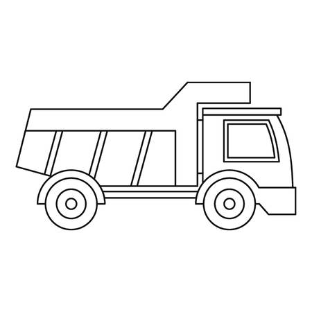 artificial model: Plastic toy truck icon, outline style