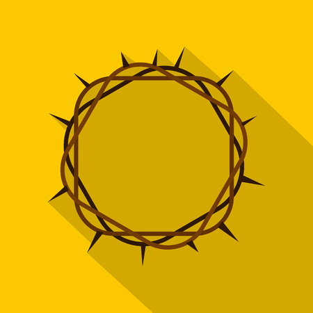 suffer: Crown of thorns icon , flat style Illustration