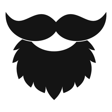 Red Beard And Mustache Icon Isolated Royalty Free Cliparts Vectors