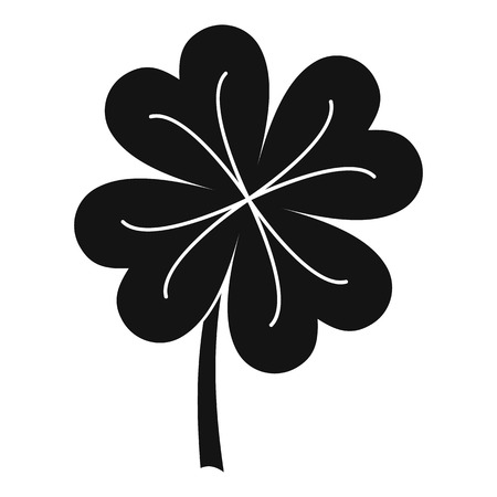 Clover leaf icon, simple style
