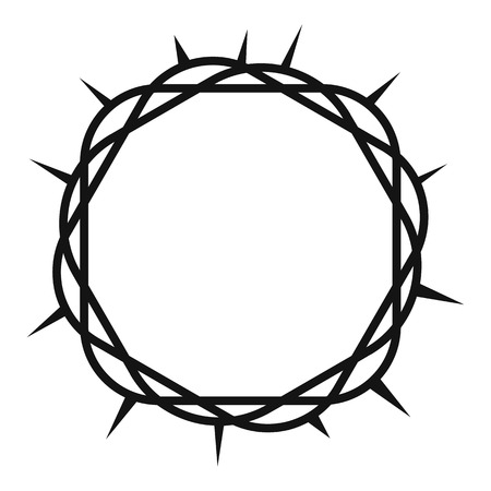 Icône de la Couronne d'épines, style simple Vecteurs