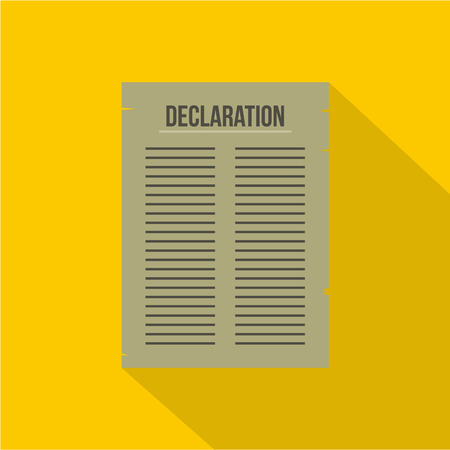 declaration: Declaration of Independence icon , flat style Illustration