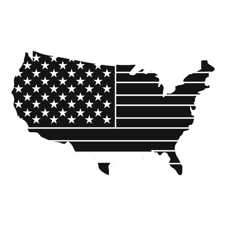 American map icon , simple style