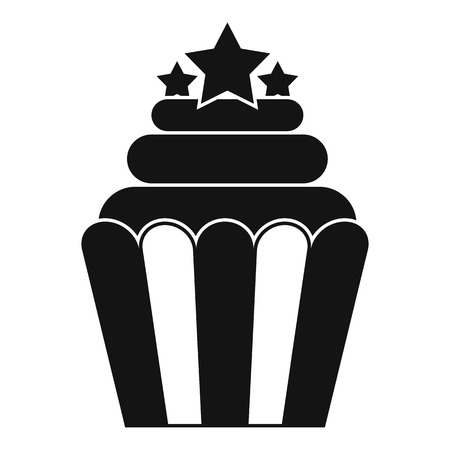 dessert buffet: Popcorn icon , simple style