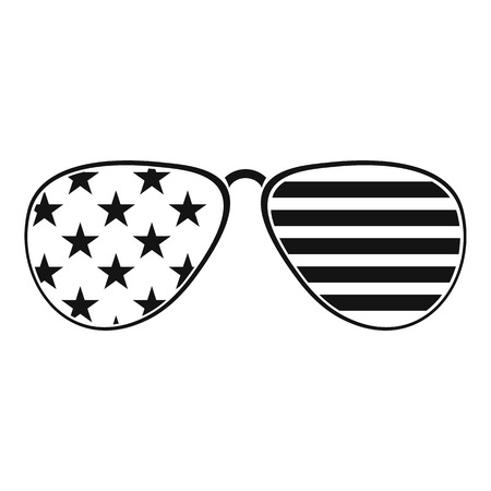American glasses icon , simple style