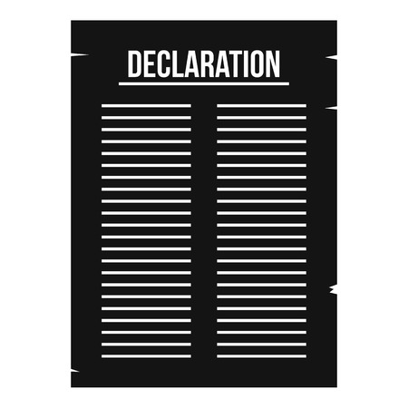 declaration: Declaration of independence icon, simple style
