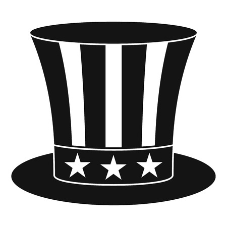 sam: Uncle sam hat icon , simple style Illustration