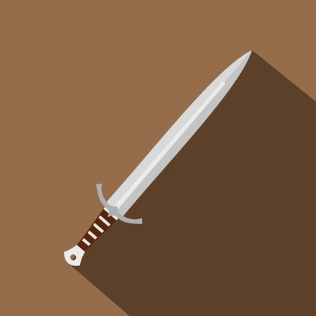 Long sword icon, flat style