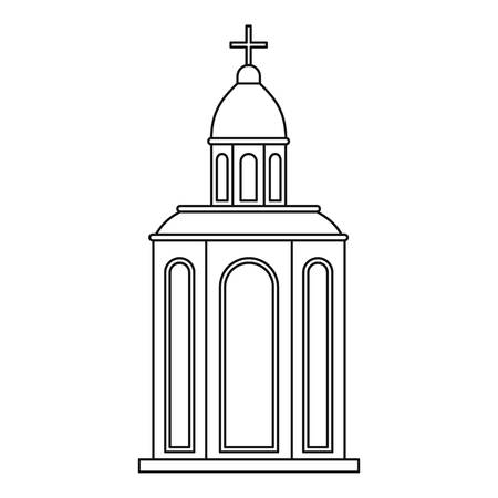 Church icon. Outline illustration of church vector icon for web Illustration