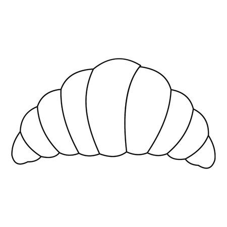 Icône de croissant. Illustration de contour d'icône de vecteur de croissant pour le web Vecteurs