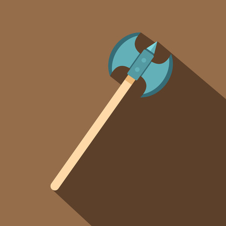 longsword: Poleaxe icon. Flat illustration of poleaxe vector icon for web